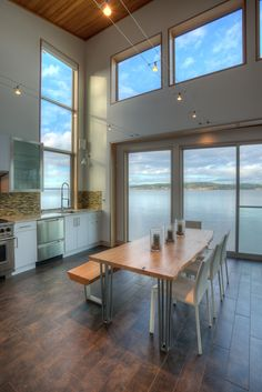 Tsunami House kitchen and dining room, Designs Northwest Architects