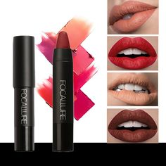 FOCALLURE Matte Lipstick Waterproof Long-lasting Easy to Wear Cosmetic Nude Makeup Lips