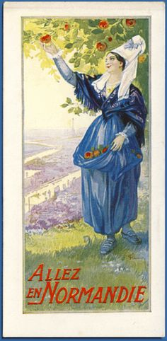 Art Nouveau bookmark from Chemin de fer de l'Etat - French State Railways promoting Normandy