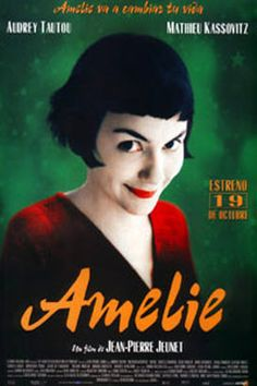 Amélie:  One woman decides to change the world by changing the lives of the people she knows in this charming and romantic comic fantasy from director Jean-Pierre Jeunet. *****