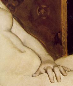 Detail of Édouard Manet's Olympia (1863)