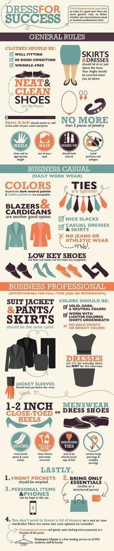 infographic : infographic : What you need to know about Business Casual and Business Professio