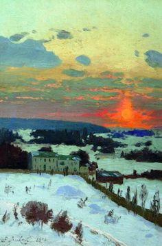 Winter Sunset, 1896 by Vladimir Orlovsky | issyparis