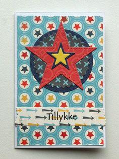 Tag small card - Kid birthday card with star MFT stitched star - til og fra kort - fødselsdag - Carta Bella: Boy oh Boy - paper pad - JKE
