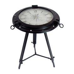 Shop Winward Designs  CFUR3037.BK Clock Accent Table at ATG Stores. Browse our end tables, all with free shipping and best price guaranteed.