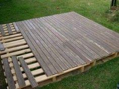 Precious Tips for Outdoor Gardens - Modern Pallet Patio Decks, Patio Diy, Backyard Patio Designs, Backyard Landscaping, Outdoor Pallet, Diy Deck, Backyard Ideas, Diy Terrasse, Design Jardin
