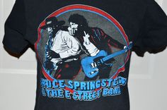 Bruce Springsteen & The E Street Band 1980 World Tour Black T-shirt Medium 38-40 | Entertainment Memorabilia, Music Memorabilia, Rock & Pop | eBay!