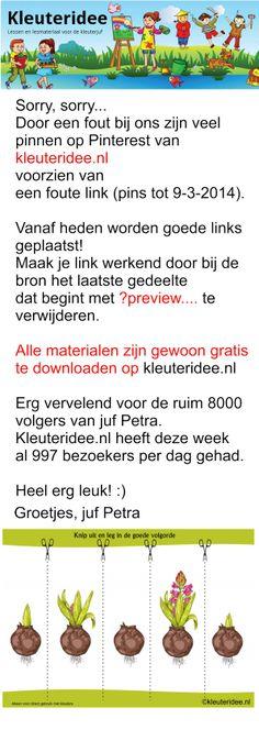 Bericht van juf Petra op kleuteridee.nl  , re-pin s.v.p.