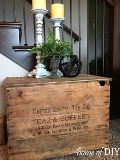 Today's reader feature is this lovely DIY Antique Wooden Crate Image Transfer, submitted by our friend Jodi Brugardt. Jodi transferred my Old Typography-Tea & Coffee image onto this old wooden crate that she purchased at a flea market. She wanted to transform this plain wooden crate into a shipping crate to create a beautiful piece. She used a flat-black acrylic...Read More »