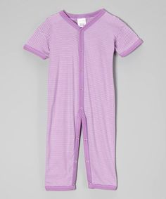 This Lilac Stripe Playsuit by Luca Charles is perfect! #zulilyfinds