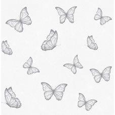 Wilko butterfly Grey Wallpaper