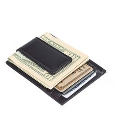 Money Clip Slim Wallet 4cc Leather With Soft Inside Present Gift Brown
