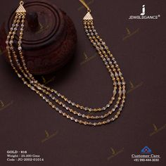 Plain Gold Necklace jewellery for Women by jewelegance. ✔ Certified Hallmark Premium Gold Jewellery At Best Price Jewelry Design Earrings, Necklace Designs, Jewelry Accessories, Gold Jewelry Simple, Gold Wedding Jewelry, Fancy Jewellery, Gold Jewellery Design, Gold Chain Design, Gold Necklace