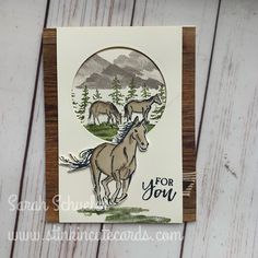 59 Ideas Birthday Card Cat Design Stampin Up Cool Birthday Cards, Masculine Birthday Cards, Masculine Cards, Diy Birthday, Birthday Parties, Kirigami, Westerns, Horse Cards, Retirement Cards