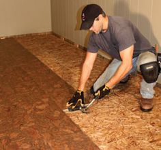 DIY Steps for Installing a Insulated Basement Floor http://extremehowto.com/install-an-insulated-basement-floor/