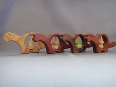 wooden dino rattle