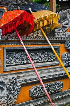 Yellow and Red   - Bali temple