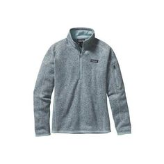 Women's Patagonia Better Sweater 1/4 Zip 25617 - Tubular Blue Sweater... ($99) ❤ liked on Polyvore featuring tops, outerwear, layered tops, zip top, zipper top, blue top and blue sweater vest