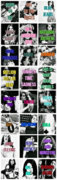 """Lana's songs from """"Born To Die"""" and """"Paradise"""" albums #LDR"""