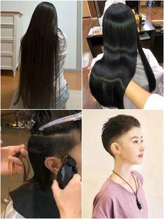 Bald Hair, Amazing Transformations, Short Pixie, Sexy Shorts, Cute Little Girls, Pixie Hairstyles, Rapunzel, Bobs, Gorgeous Women