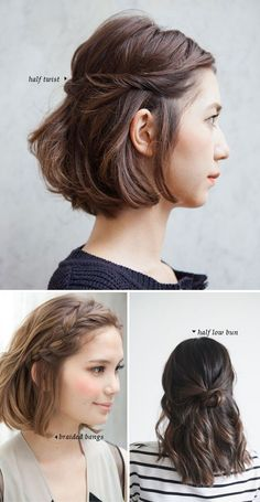 Short Hair Dos 10 Quick And Easy Styles Style And Pretty Hair regarding dimensions 650 X 1255 Easy Quick Hairstyles For Short Hair - Short hairstyles are Short Hair Dos, Short Hair Styles Easy, Medium Hair Styles, Short Hair Hacks, Short Wavy, Bob Hair Dos, Short Hair Ponytail, Half Ponytail, Braided Hair