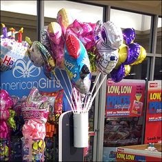 American-Gifts Display-End Balloon Quiver Frozen Cocktails, Store Fixtures, Quiver, Signage, Party Favors, Balloons, Retail, Display, American