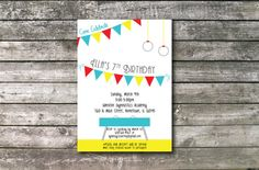 Gymnastic Party Invitation on Etsy, $17.00