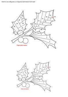 Home : Iris Folding : Christmas : Christmas Holly 2 Iris Folding ...