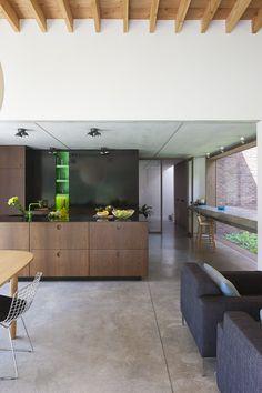 Fotografie van een moderne woning te Keerbergen ontworpen door BBis architecten. © foto's Liesbet Goetschalckx