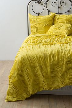 Citrine Quilla Duvet Cover - This with a dark gray wall and purple....yes