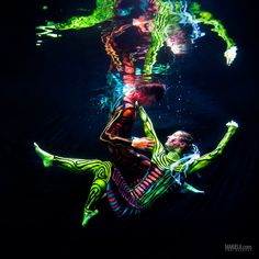 Amazing body painting under black light pool photoshoot! © Rafal Makiela / sponsored by Mozaik UW - housingcamera.com