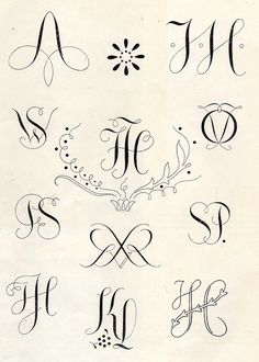 Monograms 1950\'s