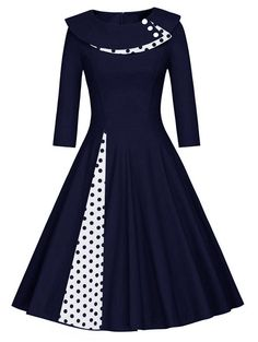online shopping for MUXXN Women's Vintage Sleeve Party Rockabilly Swing Dress from top store. See new offer for MUXXN Women's Vintage Sleeve Party Rockabilly Swing Dress Vestidos Rockabilly, Vestidos Retro, Rockabilly Dresses, Robes Vintage, Vintage Dresses, Vintage Outfits, 50s Vintage, 1950s Style Dresses, Fifties Style