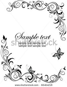 scroll clip art borders free | Vintage Wedding Design Stock Vector 66464218 : Shutterstock