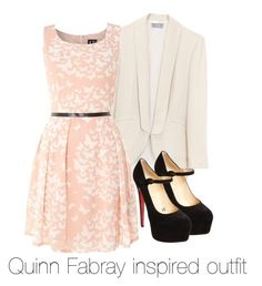 """""""Quinn Fabray inspired outfit/Glee"""" by tvdsarahmichele ❤ liked on Polyvore featuring Izabel London, Christian Louboutin, glee, quinnfabray and DiannaAgron"""