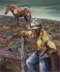 Retired and Out in the Pasture fine art giclee by GlendaOkiev, $250.00