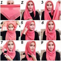 Morning :) Ini  #hijabtutorial yg kmrn yaa teman2.. Gampang bgt koq.. Tutorialnya pake jil | OnInStagram