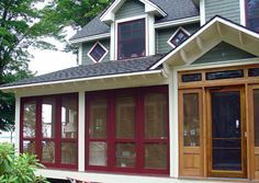 Solid Wood, Craftsman Porch Panels, 3 Season Porch Panels, Screen Windows, Screen Sash, Storm Sash - YesterYear's Vintage Doors - YesterYear's Vintage Doors
