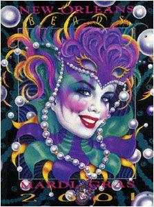 Andrea Mistretta Mardi Gras Poster 2001