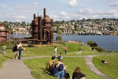 Gas Works Park.  Apparently in Seattle, people hang out around old rusting manufacturing structures.  Supposed to have an awesome view of the city though