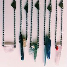 Annika Kaplan Jewelry // Flag & Gem necklaces