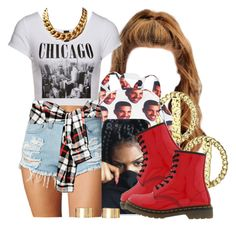 """Back To School / Chi - Town Freshness"" by msyorkieluver ❤ liked on Polyvore featuring Dr. Martens and ASOS"