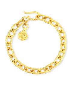 Cadene 22K Yellow Gold Charm Bracelet - Jean Mahie