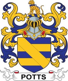 Potts Family Crest and Coat of Arms