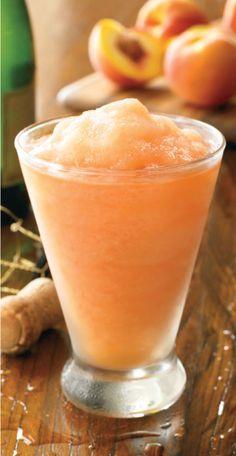Australian Peach Bellini: Fresh peaches, champagne, vodka and peach schnapps.
