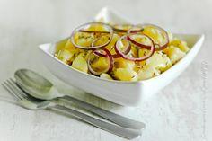 Salade de pommes-de-terre à l'oignon rouge et au cumin