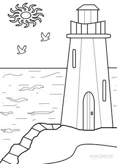 Lighthouse Coloring Pages To Print Picture --> For the top adult coloring books and writing utensils including gel pens, colored pencils, watercolors and drawing markers, go to our website at http://ColoringToolkit.com. Color... Relax... Chill.