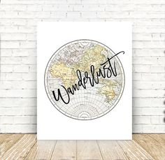 Printable world map printable poster digital world map wall art printable world map printable poster digital world map wall art heat map educational map of the world 8x10 85x11 a3 pdf files by prettyd gumiabroncs Gallery