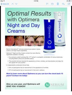 Nerium Optimera Day & Night Cream-30 day Money Back Guarantee!
