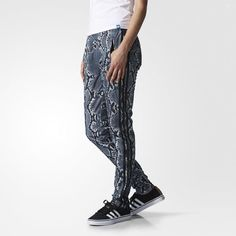 adidas Supergirl Track Pants - Multicolor | snakeskin pattern, workout